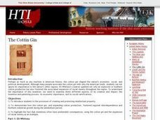 The Cotton Gin Lesson Plan