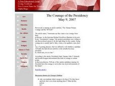 The Courage of the Presidency Lesson Plan