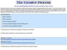 The Creative Process Lesson Plan