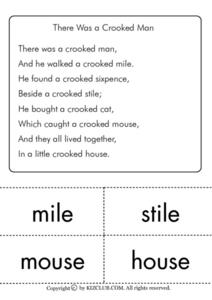 The Crooked Man Worksheet