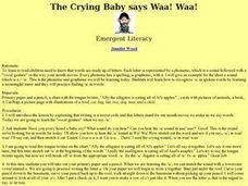 The Crying Baby says Waa! Waa! Lesson Plan
