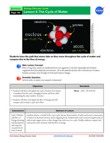 The Cycle of Matter Lesson Plan