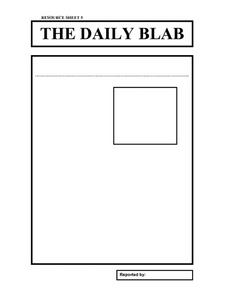 The Daily Blab Worksheet