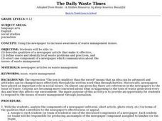 The Daily Waste Times Lesson Plan