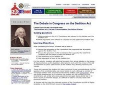 The Debate in Congress on the Sedition Act Lesson Plan