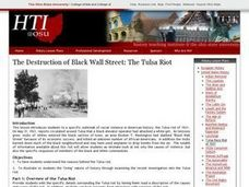 The Destruction of Black Wall Street: The Tulsa Riot Lesson Plan