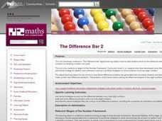 The Difference Bar 2 Lesson Plan