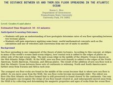The Distance Between Us and Them:  Sea Floor Spreading in the Atlantic Ocean Lesson Plan