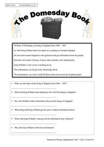 The Doomsday Book Worksheet