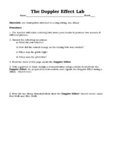 The Doppler Effect Lab Worksheet