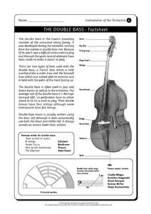The Double Bass and The Clarinet Worksheet