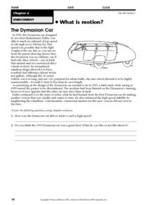 The Dymaxion Car Worksheet