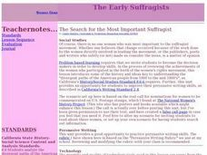 The Early Suffragists Lesson Plan