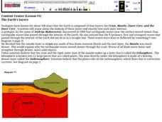 The Earth's Layers Lesson #1 Lesson Plan