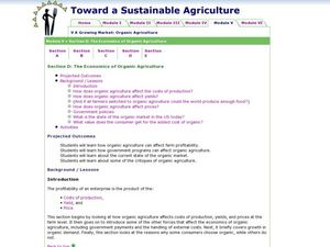 The Economics of Organic Agriculture Lesson Plan