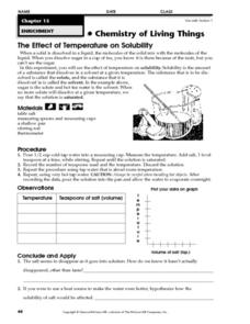 Worksheets Solubility Worksheet the effect of temperature on solubility 3rd 8th grade worksheet solubility