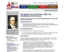 The Election Is in the House: 1824: The Candidates and the Issues Lesson Plan
