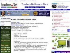 The election of 1824 Lesson Plan