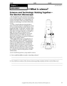 The Electron Microscope Worksheet