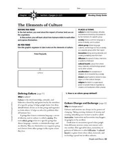 The Elements of Culture Worksheet