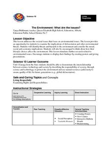 The Environment: What Are the Issues? Lesson Plan