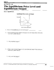 The Equilibrium Price Level And the Equilibrium Output Worksheet