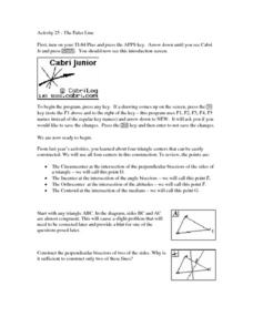 The Euler Line Lesson Plan