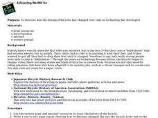 The Evolution Of Bicycling Technology Lesson Plan