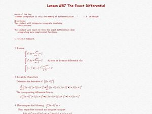 The Exact Differential Lesson Plan