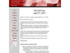 The Fall Guy Lesson Plan