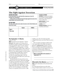 The Fight Against Terrorism Worksheet