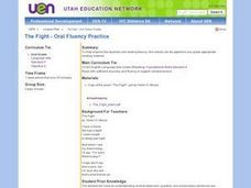 The Fight - Oral Fluency Practice Lesson Plan