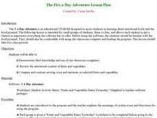 The Five a Day Adventure Lesson Plan Lesson Plan