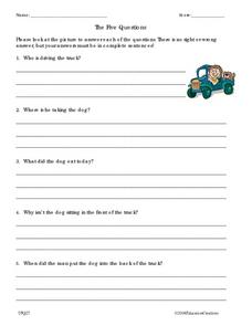The Five Questions Worksheet