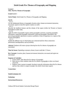 Printables 5 Themes Of Geography Worksheet the five themes of geography 7th 9th grade worksheet lesson planet worksheet