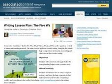 The Five W's! Lesson Plan