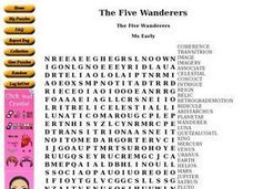 The Five Wanderers Worksheet
