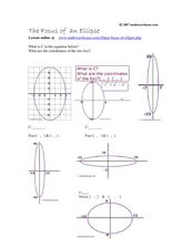 Worksheets Ellipse Worksheet the focus of an ellipse 9th 11th grade worksheet lesson planet ellipse