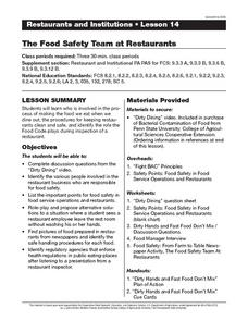 The Food Safety Team at Restaurants Lesson Plan
