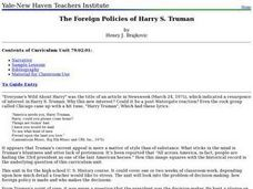The Foreign Policies of Harry S. Truman Lesson Plan