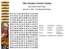 The Former Soviet Union Worksheet