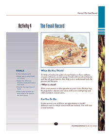 The Fossil Record Worksheet