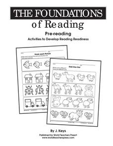 The Foundations of Reading: Pre-reading - Which Clothes? - Who's the Smallest Worksheet