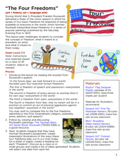 The Four Freedoms Lesson Plan