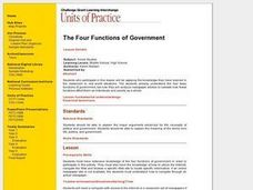 The Four Functions of Government Lesson Plan