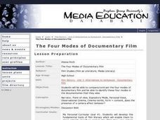 The Four Modes of Documentary Film Lesson Plan