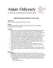 The Four Religions of East Asia Lesson Plan