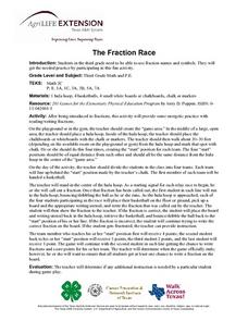 The Fraction Race Lesson Plan