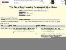 The Front Page: Asking Geographic Questions Lesson Plan
