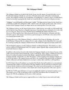 math worksheet : the galapagos islands 3rd  4th grade worksheet  lesson pla  : Math Worksheet Island